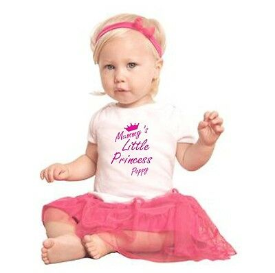 Personalised Baby Toddler Child's Kids Mummy's Little Princess T-shirt Tee Top