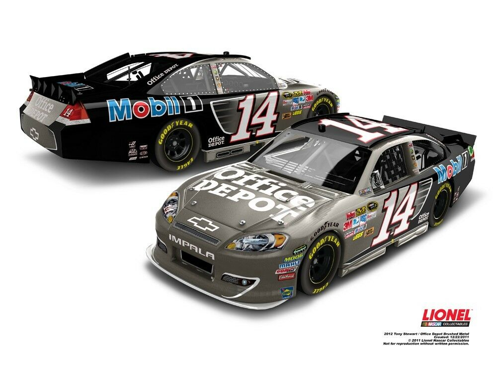 Lionel Die Cast Collectable 1 24 Scale Tony Stewart Office Depot 2012 Impala