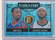 2013/14 PANINI GOLD STANDARD CLAIM TO FAME JOHN WALL, DEMARCUS COUSINS 10/10
