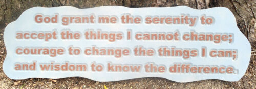 Serenity prayer mold plaster concrete casting garden mould