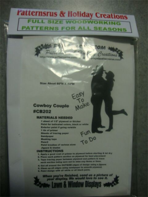 Cowboy Cowgirl Couple Silhouette Woodworking Pattern Plan