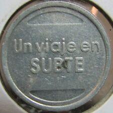 """Vintage Un Viaje en Subte """"One Voyage on a Subway"""" Spanish Transit Token"""