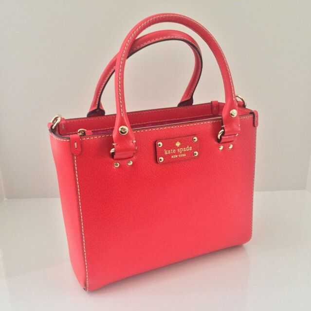 Kate Spade Wellesley Small Quinn Bag Purse In Lacquer Red Wkru2723
