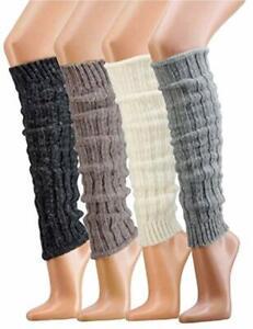 Krautwear-Weiche-Beinwaermer-Stulpen-Legwarmers-Grobstrickstulpen-mit-Alpakawolle