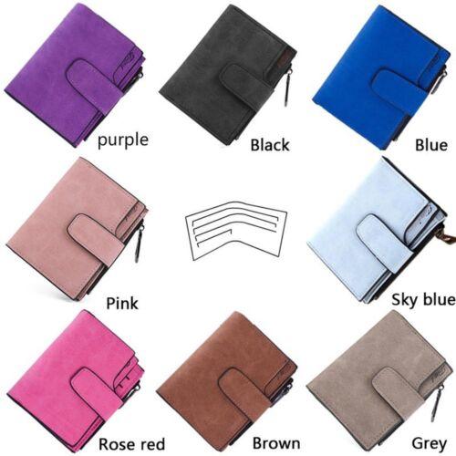 Lady Women Clutch Small Vintage Short Letter Snap Purse Bags Wallets