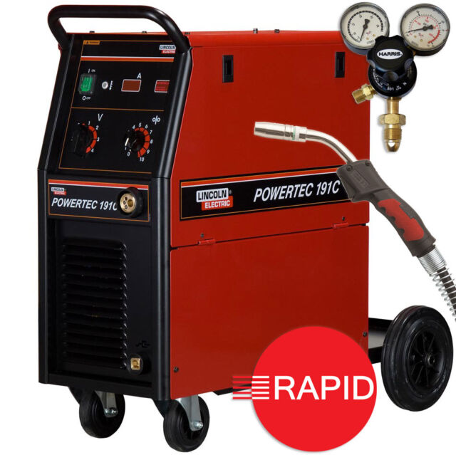 Lincoln Electric Mig Welder >> Lincoln Electric Powertec 185 Compact Mig Welder 230v 16amp