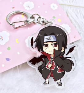 Anime Naruto Uchiha Itachi Keychain Acrylic Key Ring high quality 1Pcs