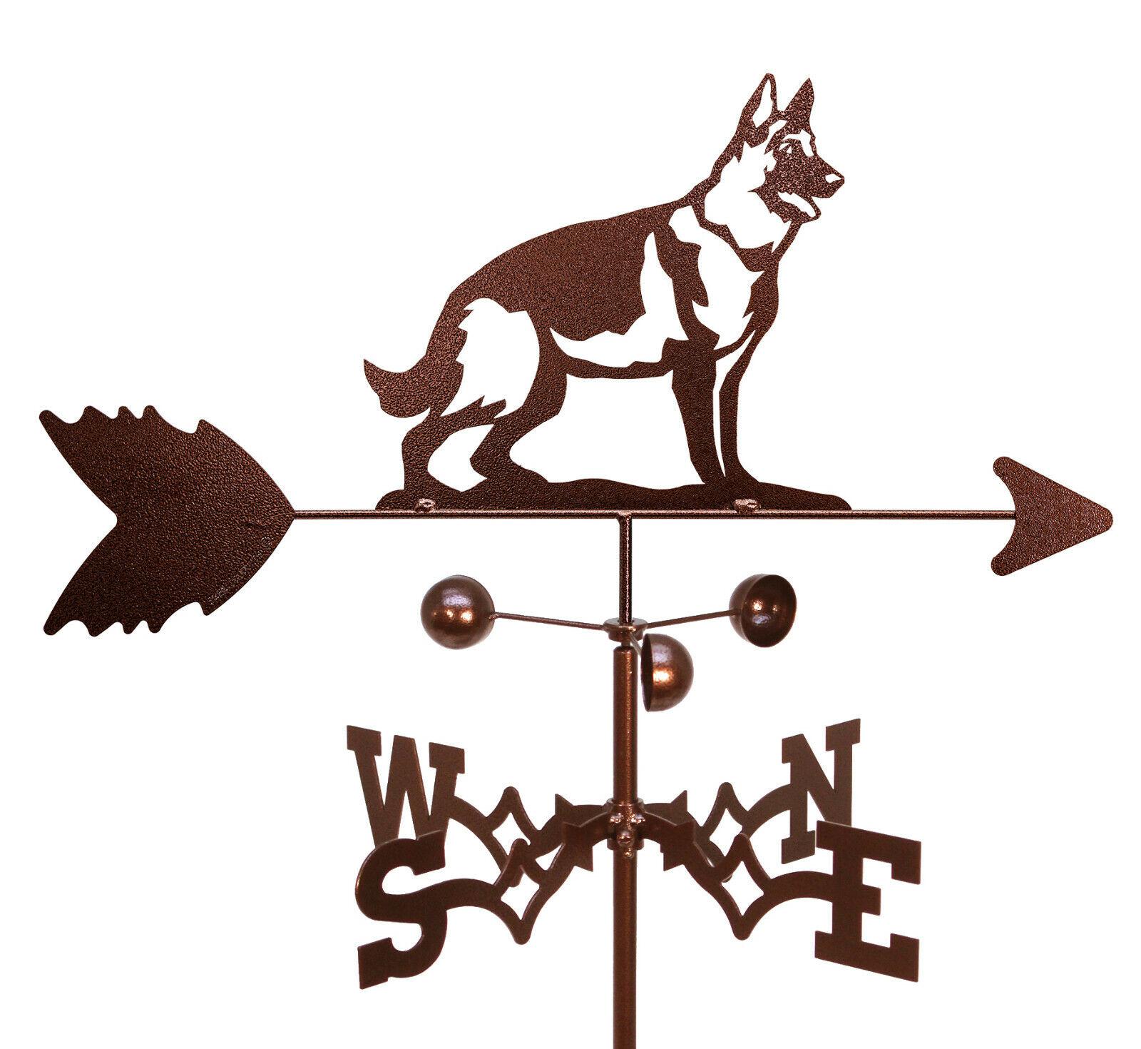 German Shepherd Weathervane With Garden Mounting