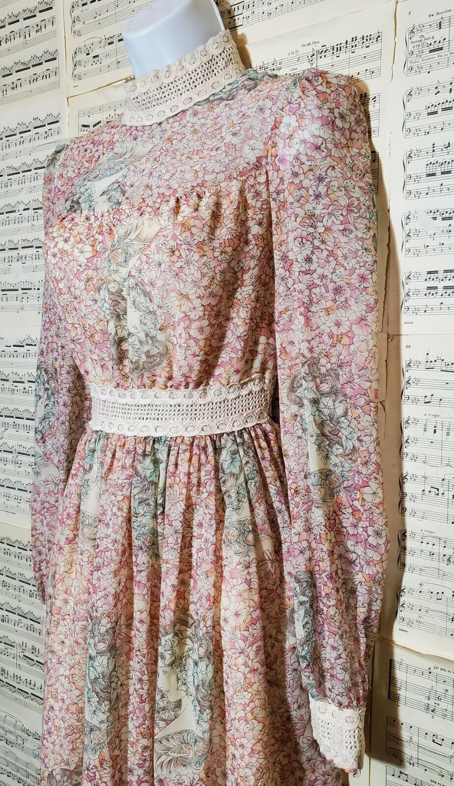 Vintage 1960s 1970s Unbranded Gunne Sax Style Wom… - image 7