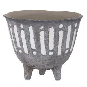 Rogue Zaidan Plant 18cm Pot Ceramic Home/Garden Decor f/Artificial Plants GRY/WH