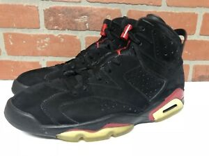 innovative design 285ca ca0f3 Details about Nike Air Jordan Retro 6 BLACK VARSITY RED size 11.5 WORN  GREAT CONDITION