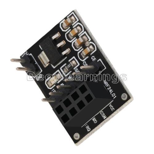 5 PCS Socket Adapter plate Board for 8Pin NRF24L01 Wireless Transceive module