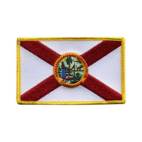 Flag of Florida Embroidered PATCH//BADGE