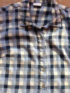 Mackays-Ladies-Blue-Checked-Shirt-Size-12