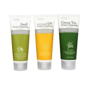 3W CLINIC Foam Cleansing Snail, Coenzyme Q10, Green Tea 100g *Korean Cosmetics*