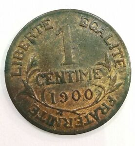 Coin 1 Penny 1900 France Rare. AD3749