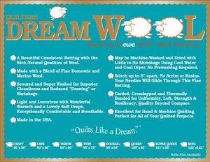 Expert Best price Wool Quilt Batting Quilters Dream ~Queen Roll ...