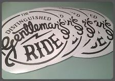 the distinguished gentlemans ride die cut self adhesive vinyl decal/sticker