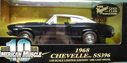 1968 Chevelle Fathom blå 1 18 Ertl American Muscle 32493