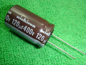 10pcs 120uF 400V Nichicon CY 18x31.5mm  long life Capacitor