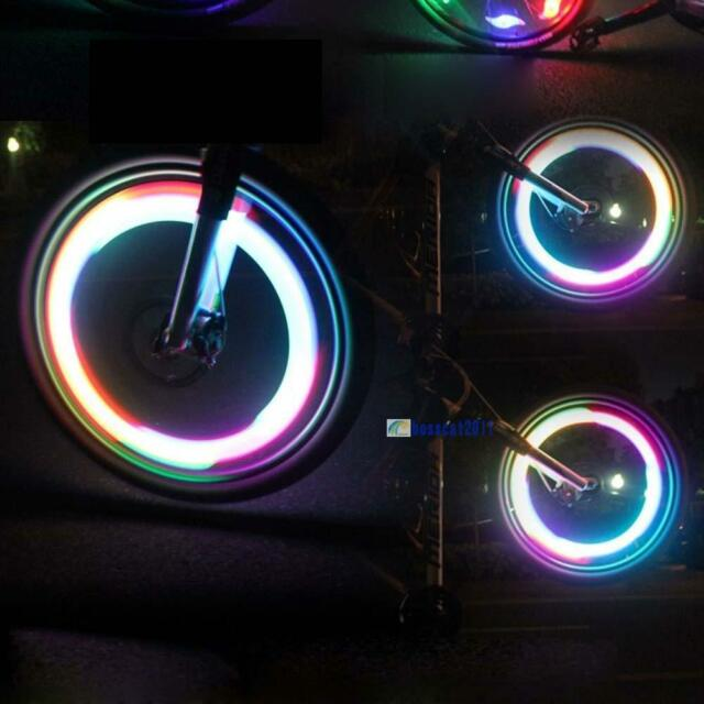 Night Ride Color Light Bicycle Bike Cycling Wheel Tire Spoke LED Light Lamp AC