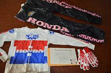 HEATHER O'ROURKE WORN HONDA BMX OUTFIT! PANTS, SHIRT, GLOVES!! AUNTHENTICATED!!!