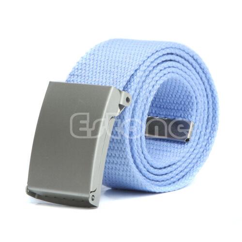 Men/'s Unisex Casual Plain Webbing Waist Belt Waistband Canvas Belt fatherday