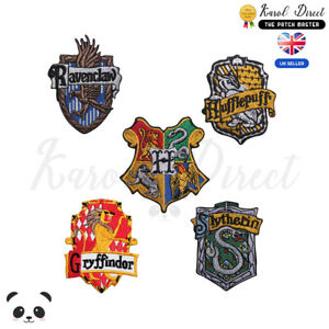 Harry-Potter-Gryffindor-Ravenclaw-Hufflepuff-Embroidered-Sew-Iron-On-Patch-Badge