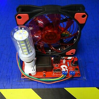 "Bedini SSG Motor ""SELF OSCILLATING"" Cooling Fan & light ..."