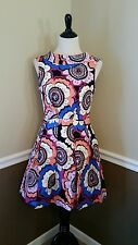 NWT $79 Modcloth Sing of Spring Dress 4 Closet London Mod 60s Bold Floral Retro