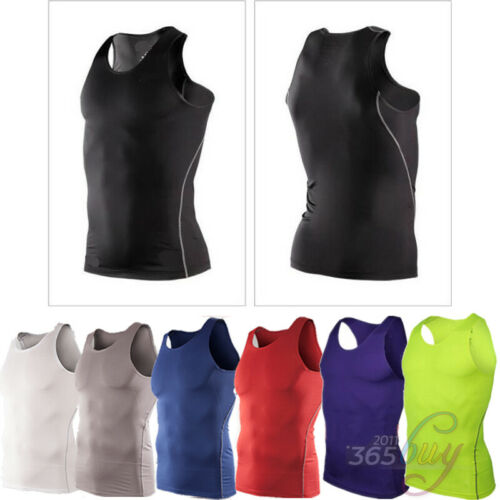 Mens Compression Base Layers Skins Sports Tank Top T-Shirts Vest Leggings Shorts