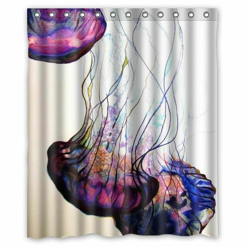 Popular Printed Harry Jellyfish Waterproof Bathroom Shower Curtain 60 x 72 Inch