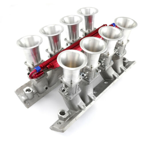 Chevy BBC 454 Downdraft EFI Stack Intake Manifold System Complete Satin