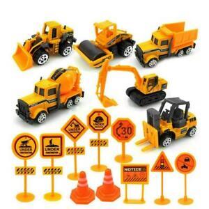 16x-Kids-Mini-Metal-Construction-Truck-Car-Model-Toy-Set-Digger-Gift-Excava-B5K1