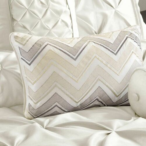 Full Queen Cal King Bed White Pintuck Pleat 7 pc Comforter Set Solid Bedding