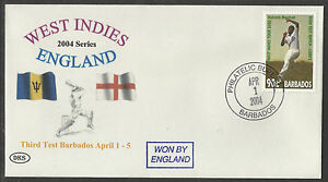 BARBADOS 2004 WEST INDIES v ENGLAND 3rd Test Match DKS Souvenir Cover.