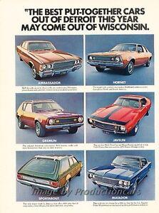 1972 AMC American Motors Hornet X Original Advertisement Print Art Car Ad J821