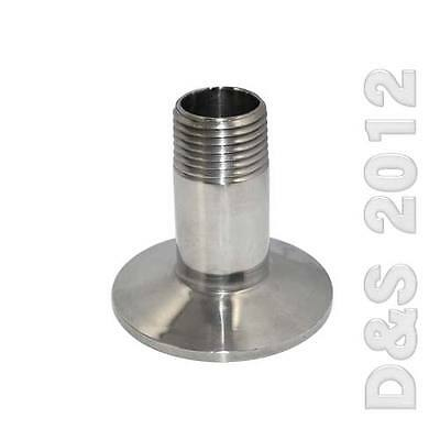 """1/2"""" to 2"""" DN15 to DN50 Sanitary Male Threaded Ferrule Pipe Fitting Clamp Type"""