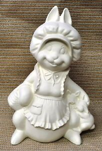 Ceramic-Bisque-Mama-Bunny-discontinued-Byron-Mold-253-U-Paint-Ready-To-Paint