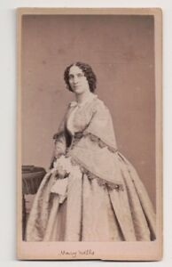 Vintage-CDV-Mary-Wells-American-actor-Fredrick-039-s-Photo