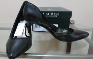 pompa taglia nero da Nuove 98 pelle scarpe Ralph 8 donna Lauren HxSIq
