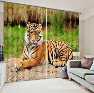 3D Tiger 902 Blockout Photo Curtain Printing Curtains Drapes Fabric Window