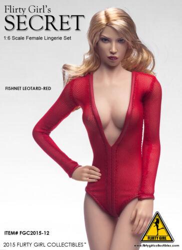 1//6 Scale Female Flirty Girl Fishnet lingerie Leotard USA Jiaoudol PHICEN