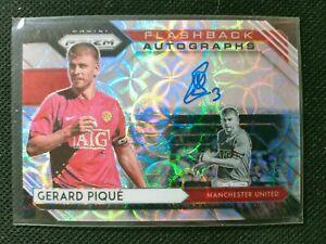 Gerard Pique 2020-21 Panini Prizm Choice Premier League Flashback Auto Autograph