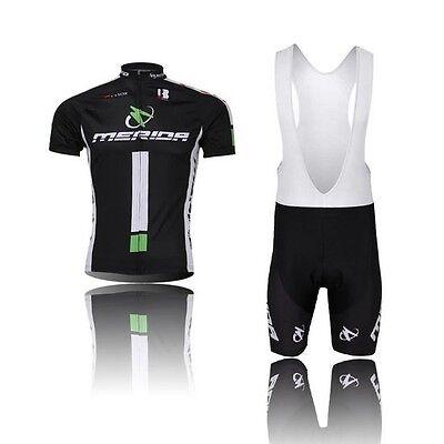 New Men Cycling Wear Short Sleeve Bike Bicycle Shirt Jersey Bib Shorts Sets