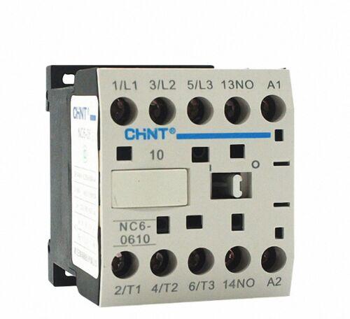 NC6-0610 AC 6Amp Coil 24VAC Mini Contactor CHINT