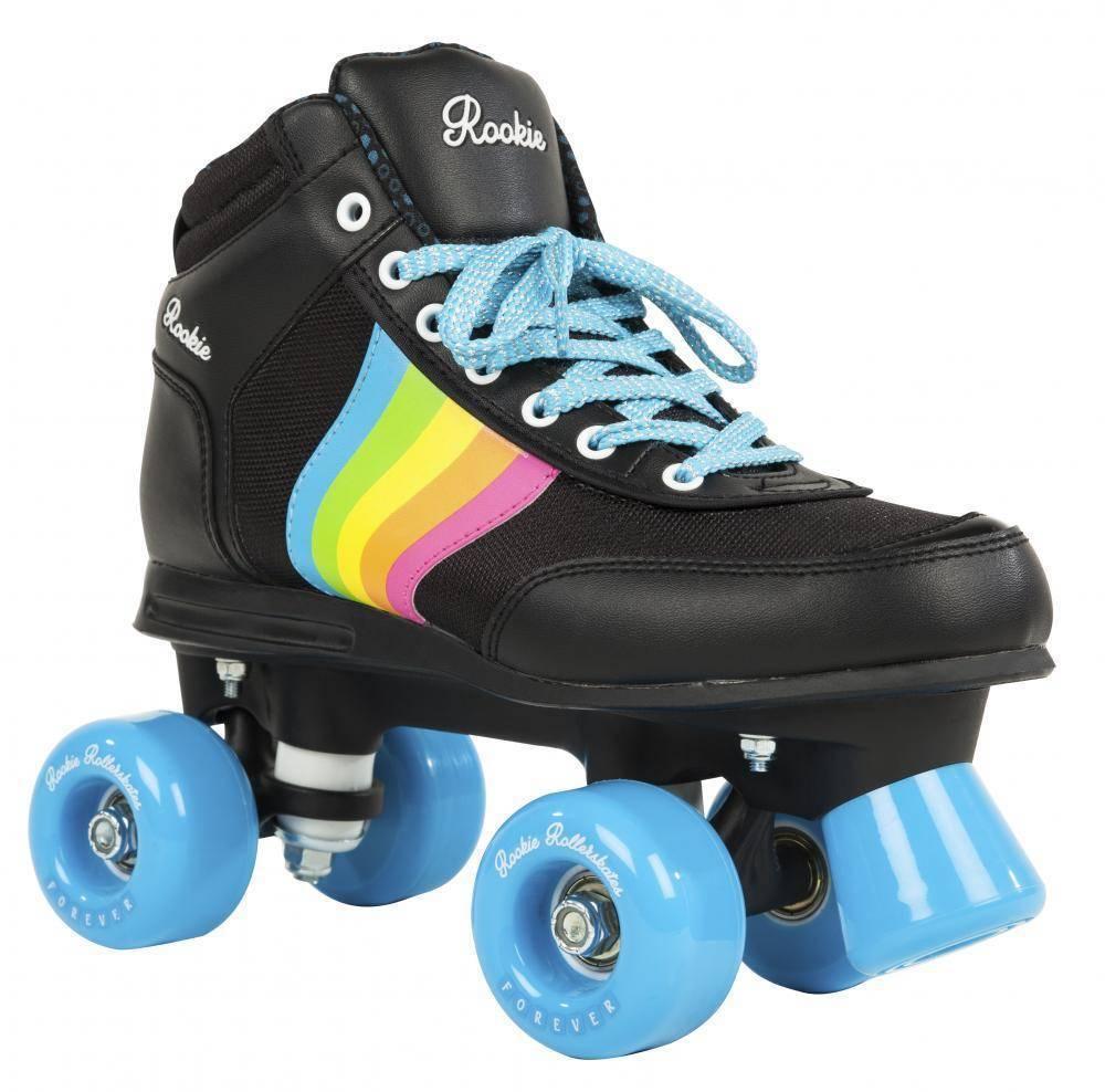 Rookie Rollschuhe Forever V2 rainbow Disco Roller schwarz rainbow V2 NEU 77315 e7975e