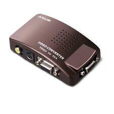 S-VIDEO PER PC LAPTOP COMPUTER MONITOR LCD VGA CONVERTITORE