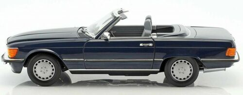 MERCEDES 300 SL R107 1986 DARK BLUE NOREV 183466 1//18 CLASS BENZ CONVERTIBLE