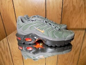 bb7492abff Nike Air Max Plus TN Tuned 1 GS Dark Total Orange Olive Black AO5435 ...